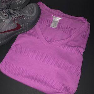 Jockey Burnout Stripe Athletic Tee purple size M